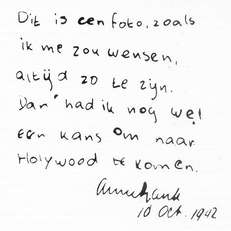 essay letter to anne frank Margot's letter to anne about peter suggests that margot was more concerned for anne's happiness than for her own mrs van daan must have seen anne as a little pest, while mr van daan seemed to be quite amused by her, the way a friendly uncle would see a precocious niece.