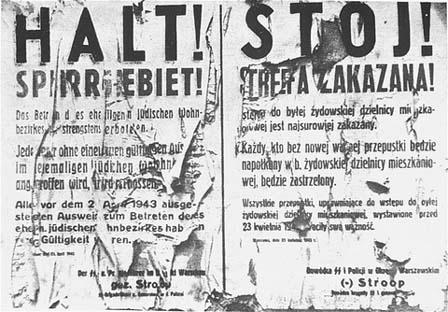 Affiche en deux parties : HALT à gauche, STOJ à droite.
