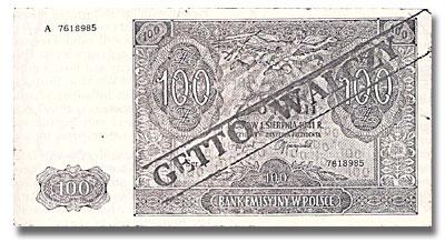 Billet de banque polonais, avec une surimpression