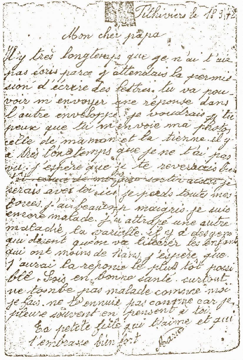 La dernière lettre de Marie Jelen