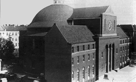 La synagogue de Berlin, en 1930.