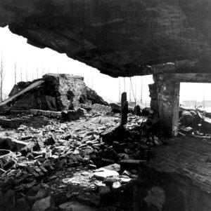 Les ruines du crématoire II